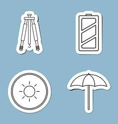 Camera accessories line icon vector