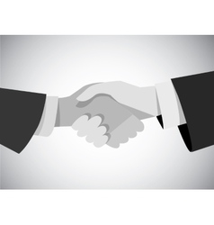 Handshake business man hand gray scale flat vector image