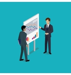 Business report isometric vector