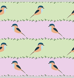 Seamless pattern with animals - colorful birds vector