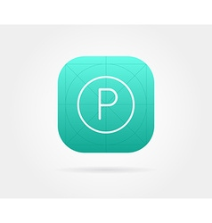 App icon template with guidelines fresh colour vector