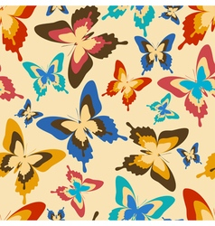 Wallpaper seamless pattern with colorful butterfly vector