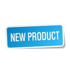 New product blue square sticker isolated on white vector