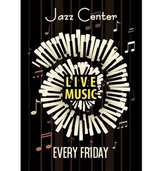 Jazz live music festival poster background vector