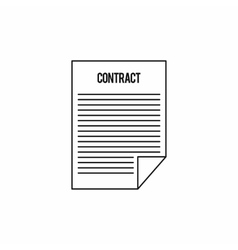 Contract icon outline style vector