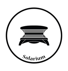 Icon of solarium vector