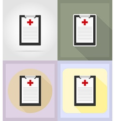 Medical flat icons 15 vector