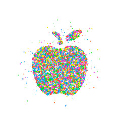 Abstract apple splash vector