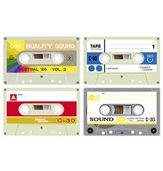 Audio cassette records vector
