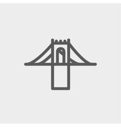 Bridge thin line icon vector