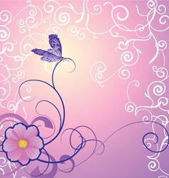 butterflies12 vector image