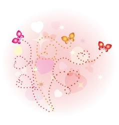 butterfly lovers vector image vector image