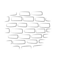 Cartoon image of wall icon wall brick symbol vector