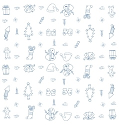 Christmas backgrounds of doodle set vector image