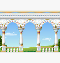 Classical arch of the eastern palace vector