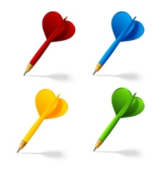 Collection of darts icons vector image