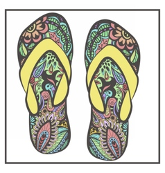 Colorfulslippers vector image vector image