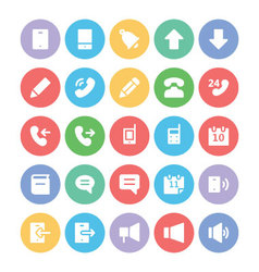 Communication icons 1 vector