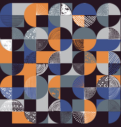 Creative geometric and handdrawn seamless pattern vector