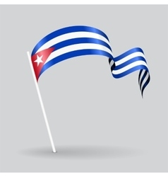 Cuban wavy flag vector