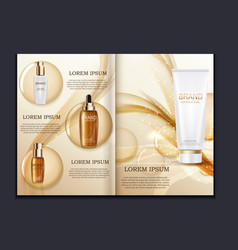 Design cosmetics product brochure template for ad vector