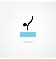 diver icon vector image