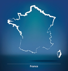 Doodle map of france vector