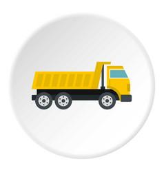 Dumper truck icon circle vector