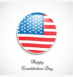Elements of usa constitution day b vector