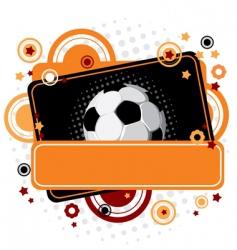 festive soccer background vector image