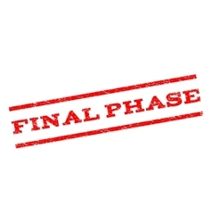 Final Phase Watermark Stamp vector image