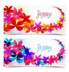 Floral color design vector image