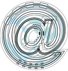 Font Symbol vector image vector image