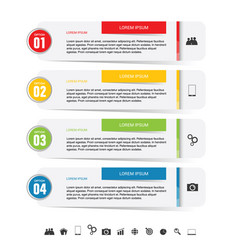 infographic icon set colored vector image vector image