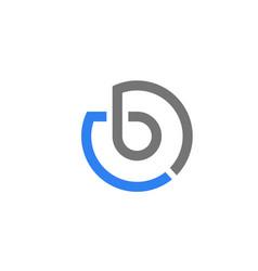 letter b circle concept design logo vector image