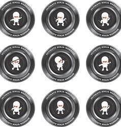 Ninja emblems vector image