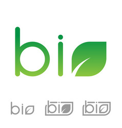Set of bio logo vector