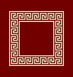 Square frame meander ansient pattern vector