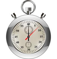 stopwatch classic stopwatch vector image vector image