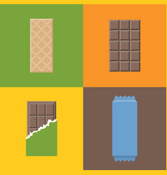 wafer with chocolate vector image