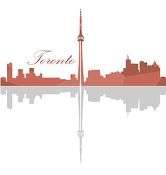 Isolated toronto skyline vector