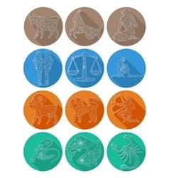 Flat icon of zodiac sign Scorpio vector image