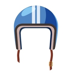 Blue motorcycle helmet icon isometric 3d style vector image