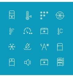 Refrigerator home fridge freezing icons vector image