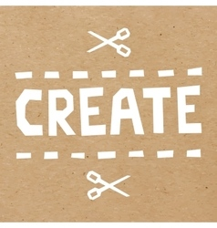Word Create cut out of white paper vector image