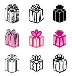 Icons gift vector