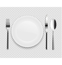 Plate with spoon vector