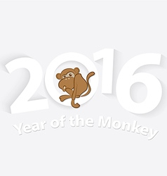 2016 Year of the Monkey Symbol of 2016 vector image
