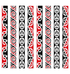Maori kowhaiwhai pattern design collection vector