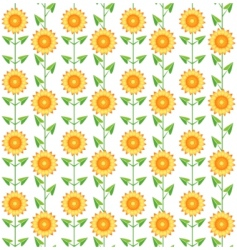 pattern sunflowers vector image